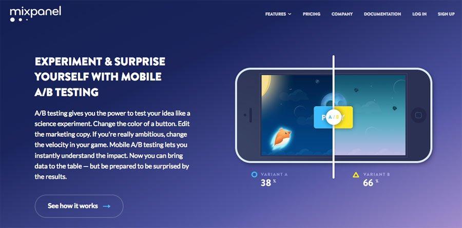 Mixpanel mobile a/b testing tools