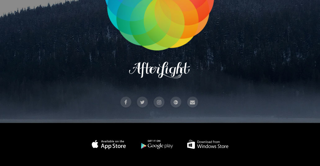 Afterlight post launch website