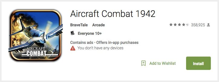Aircraft combat game