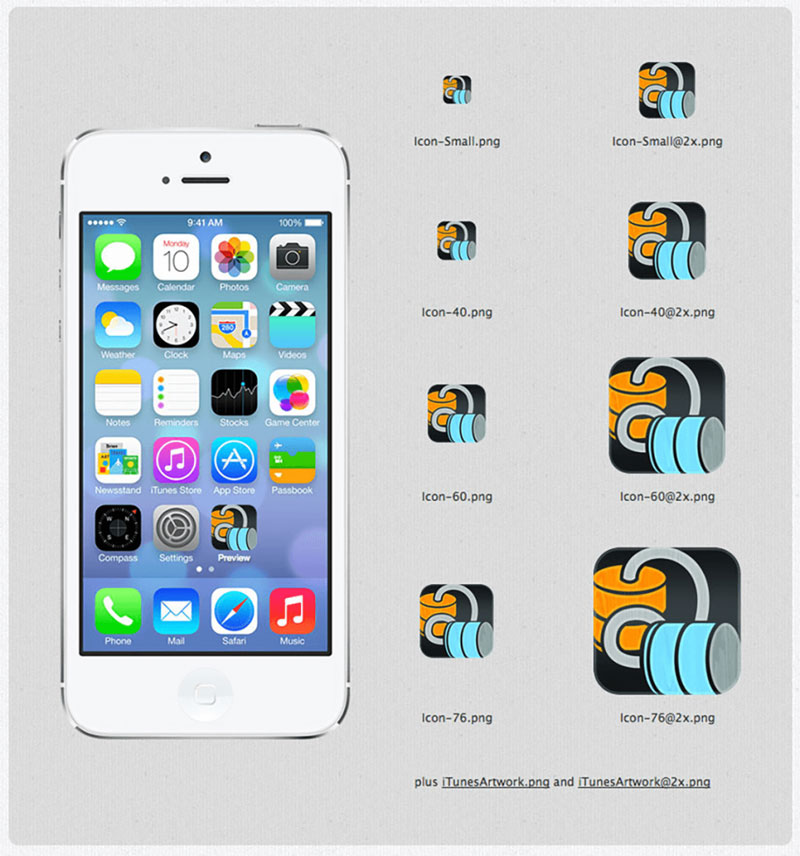 App icon sizes