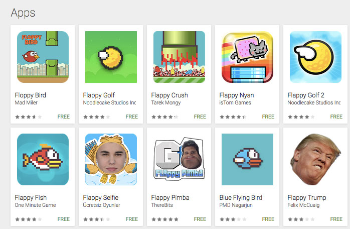Flappy apps