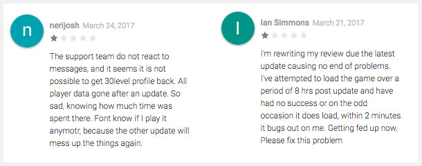 Google Play Reviews Example