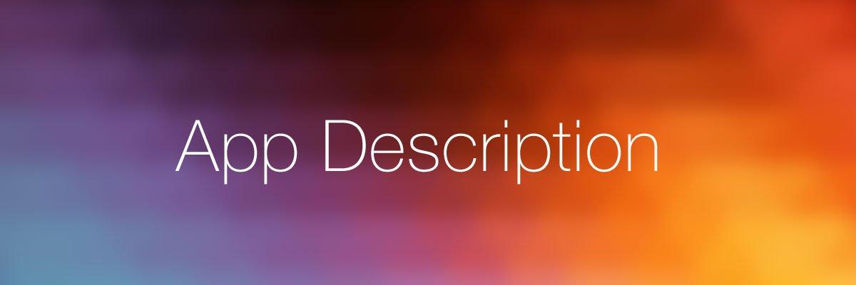 App Description Tips