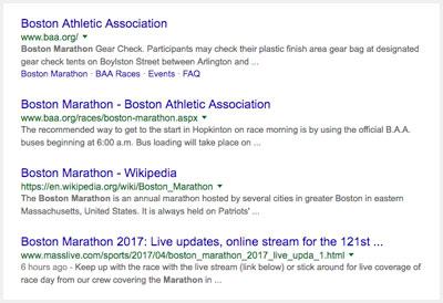 SEO search results
