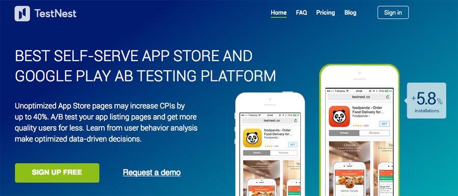 TestNest A/B testing platform