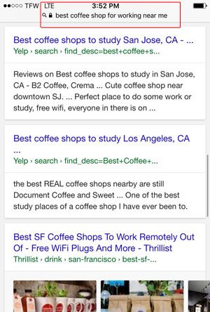 Find coffee shops