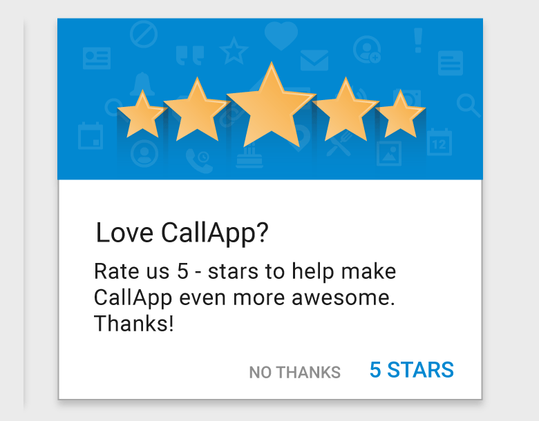App popup example