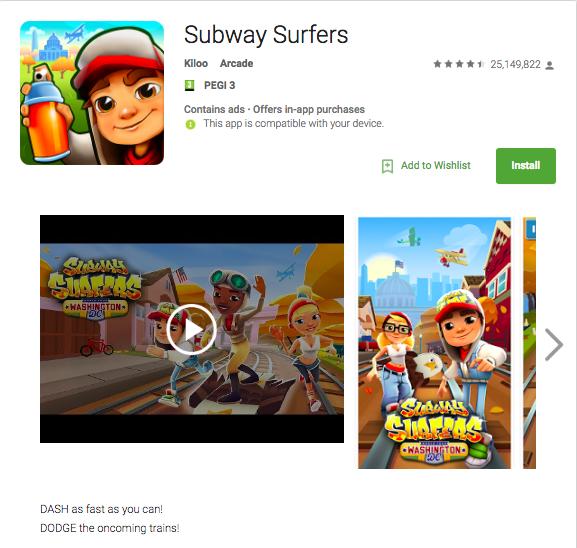 An example of a short description for Google Play App Store Optimization
