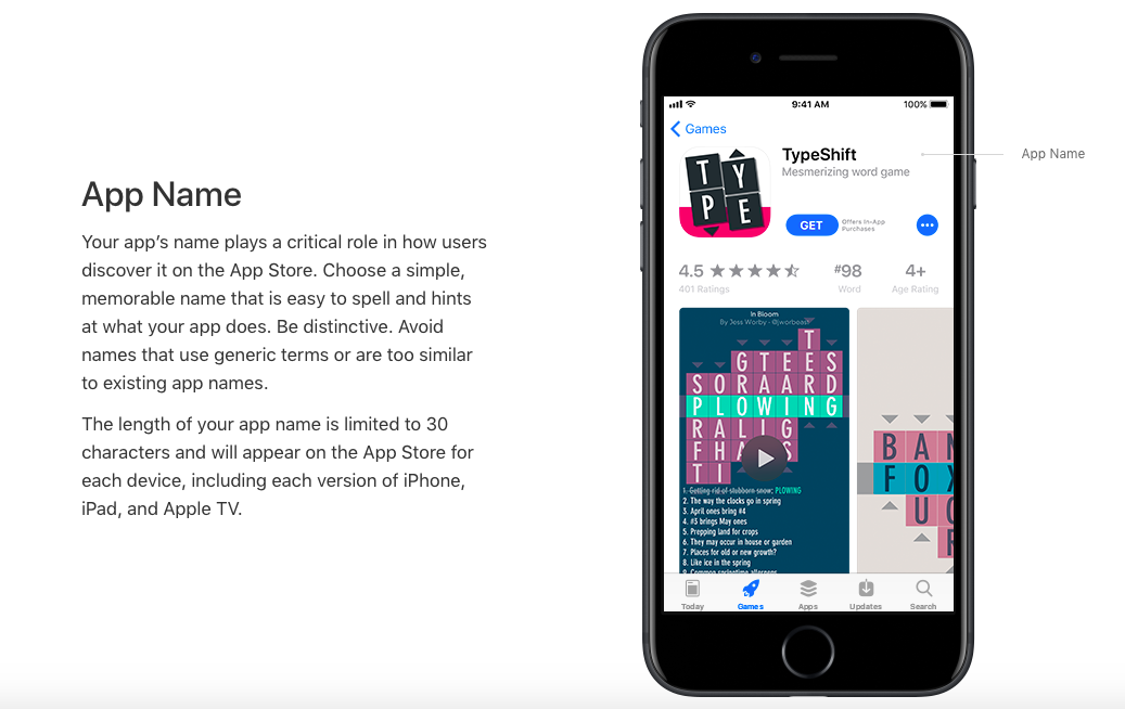 The App Name is one of the most important assets for your Apple App Store Optimization efforts.
