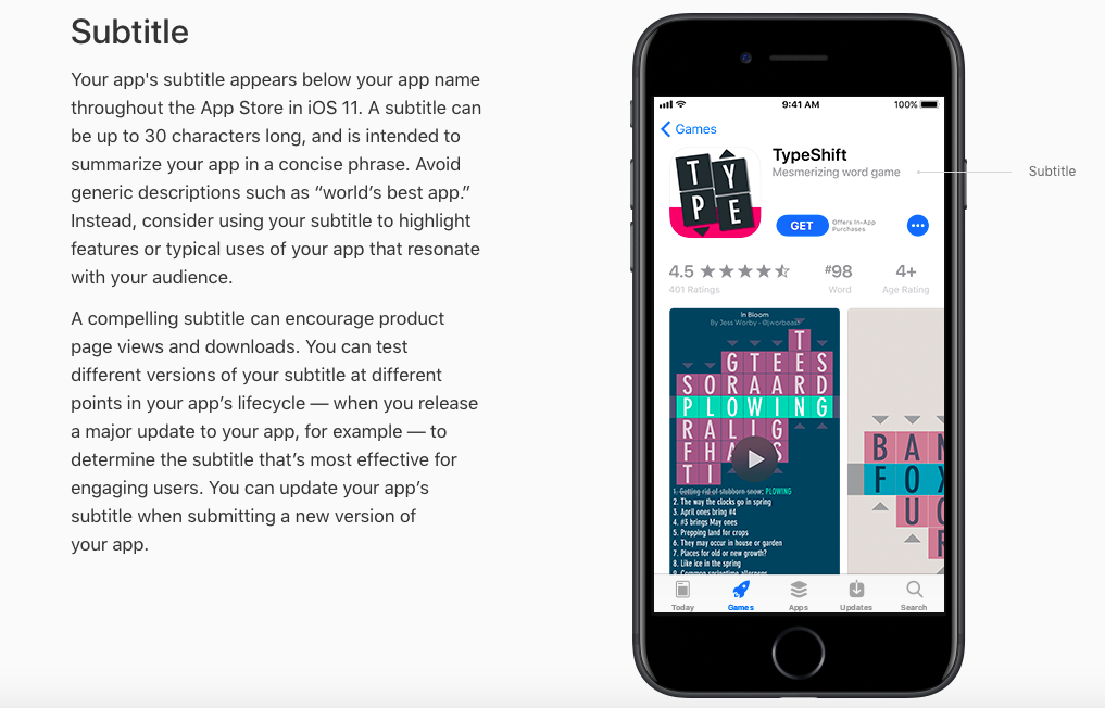 While being added recently, the Subtitle plays a significant role in your Apple App Store Optimization strategy already.