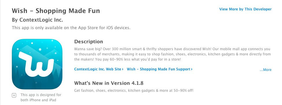 A good example of a proper App Name as a result of a Apple App Store Optimization strategy.