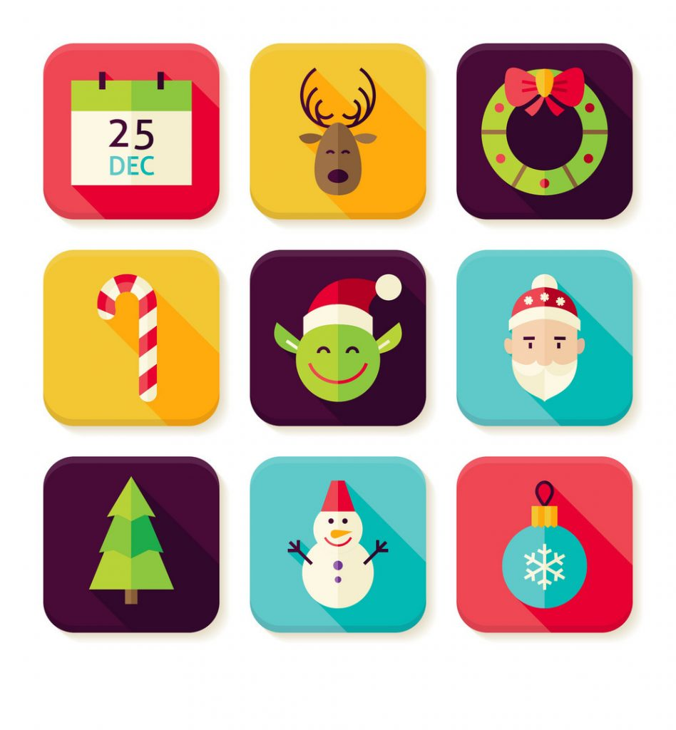 Christmas related app icons ASO seasonality