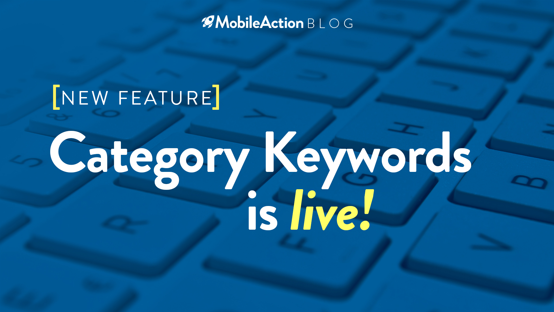 image depicting category keywords feature of mobile action