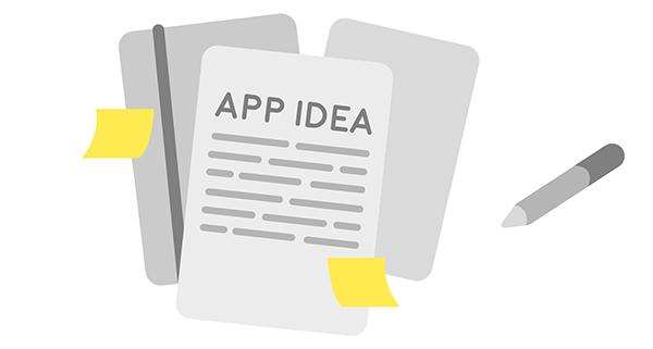 app idea on paper