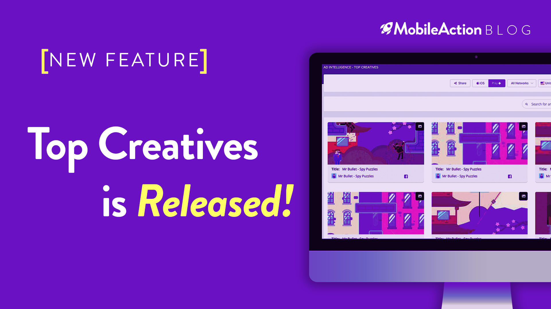 image featuring Top Creatives feature of MobileAction