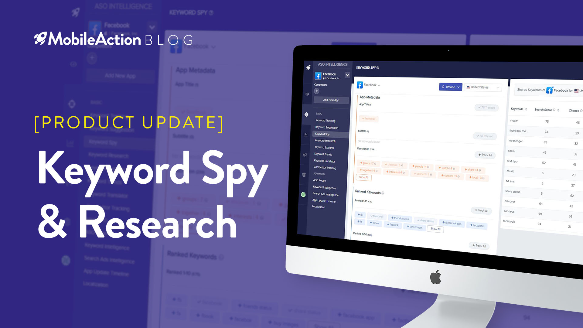 product update keyword spy research